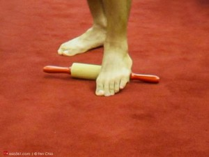 Don't forget the foot, which the entire body lies on. Rub the fleshy underside on a rolling pin or a golf ball, which hits target areas better.