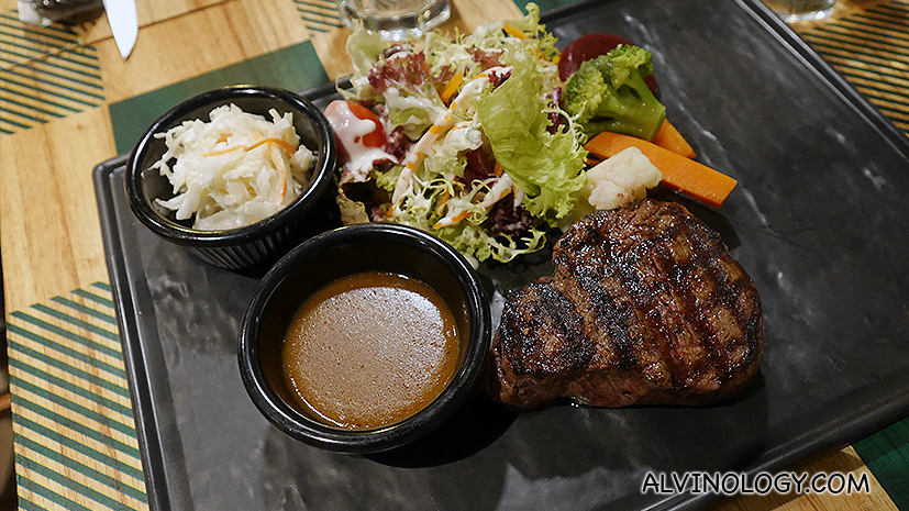 Char-grilled Flambe fire tenderloin Steak - S$31.50