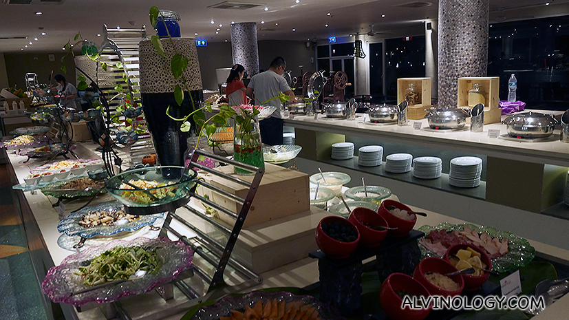 Buffet spread at Market Place