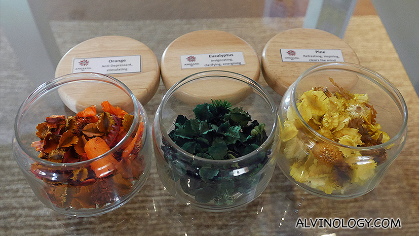 Different fragrant to choose for your spa session
