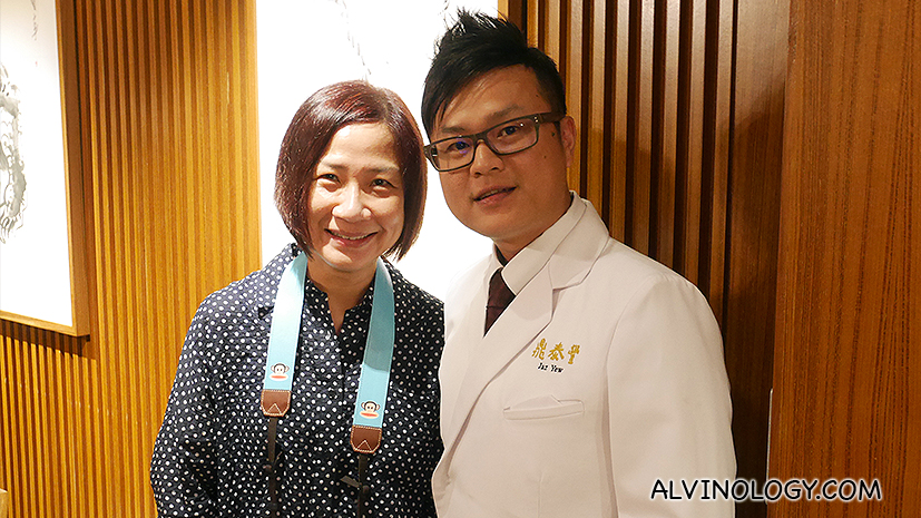 Picture of the Din Tai Fung chef with radio deejay, Anna Lim