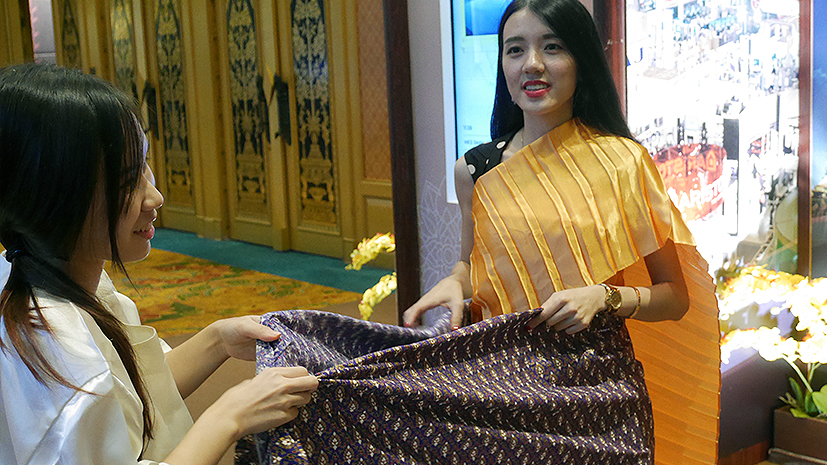 Try on traditional thai costumes