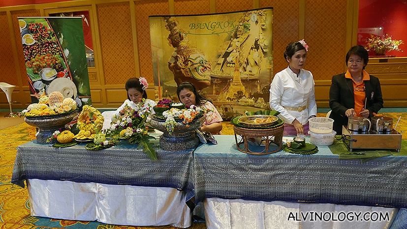 Booth on thai culture and food