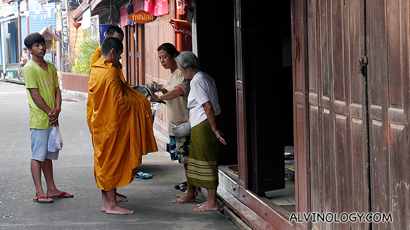 Alms giving