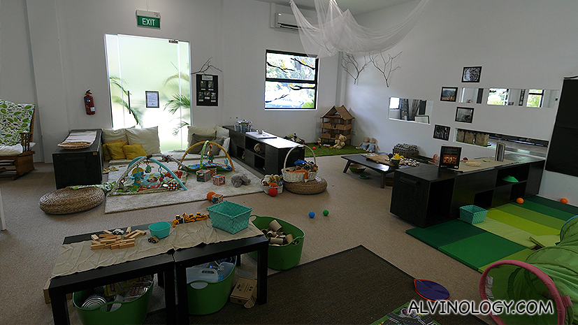 One of the children's play rooms