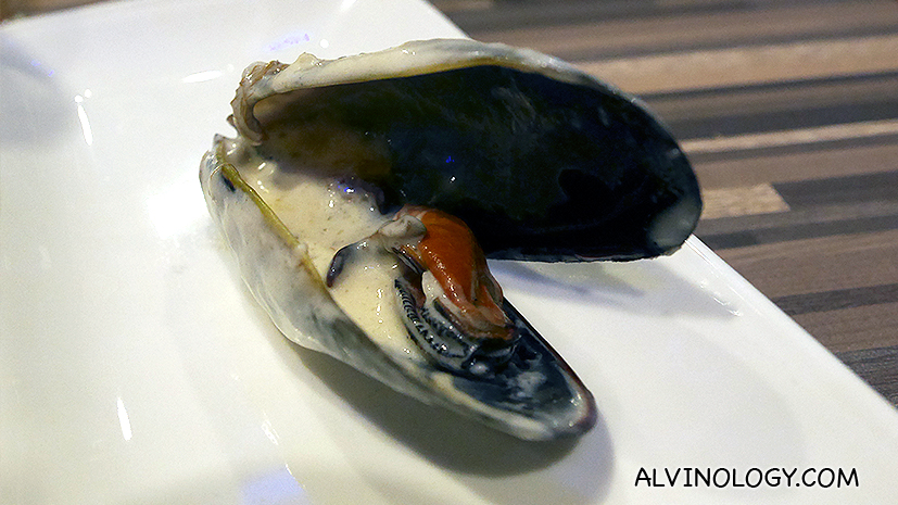 Yummy blue cheese mussel