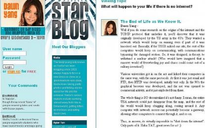 Dawn Yang plagarises her blog entries?