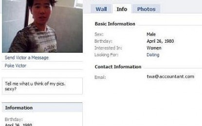 Victor Tan, another Singapore boy who like to expose himself online
