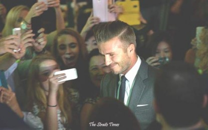 Marina Bay Sands Lights Up for Early Christmas With David Beckham