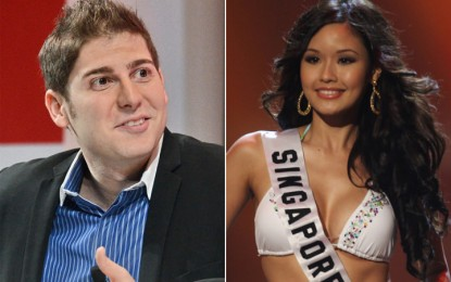 Who precisely did Facebook co-founder, Eduardo Saverin, get engaged to? Rachel Kum or Elaine Andriejanssen?