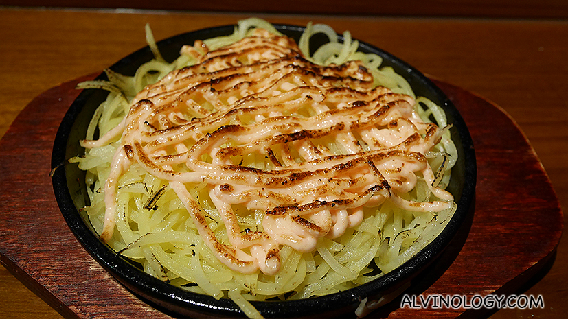 Best-selling rosti mentaiko (S$8), or marinated roe on shredded potato