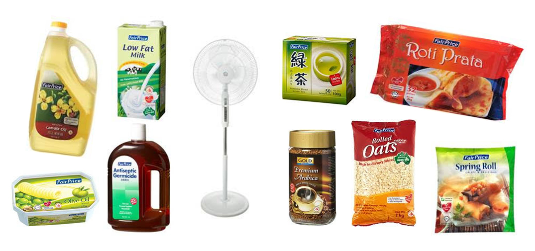 Which are the 10 most popular NTUC FairPrice housebrand items?