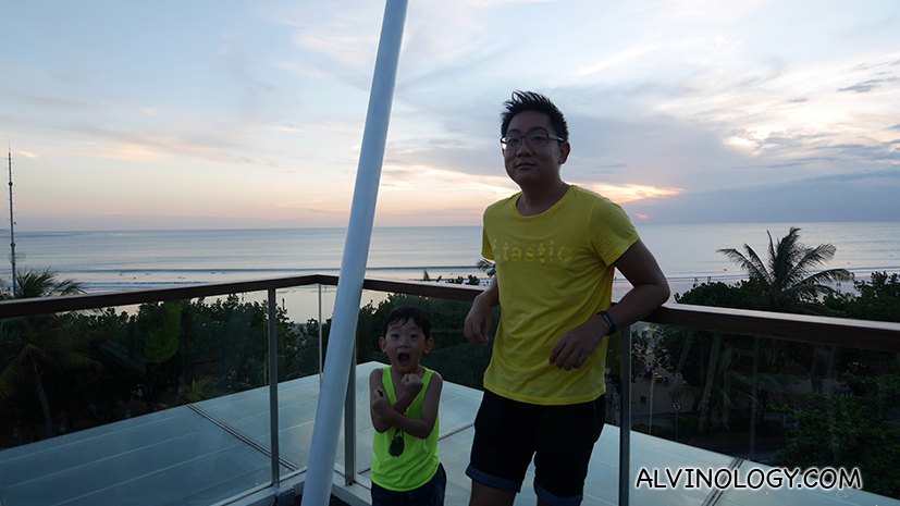 Me with my son, Asher, on a father and son only YOLO trip to Bali