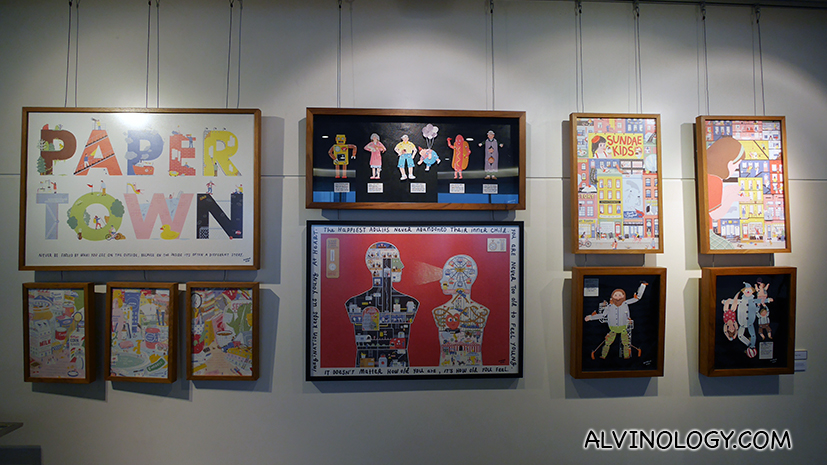 Curated artworks by local Thai artists