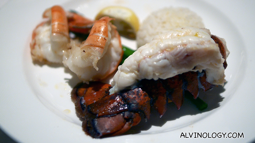 Prawn and lobster tail