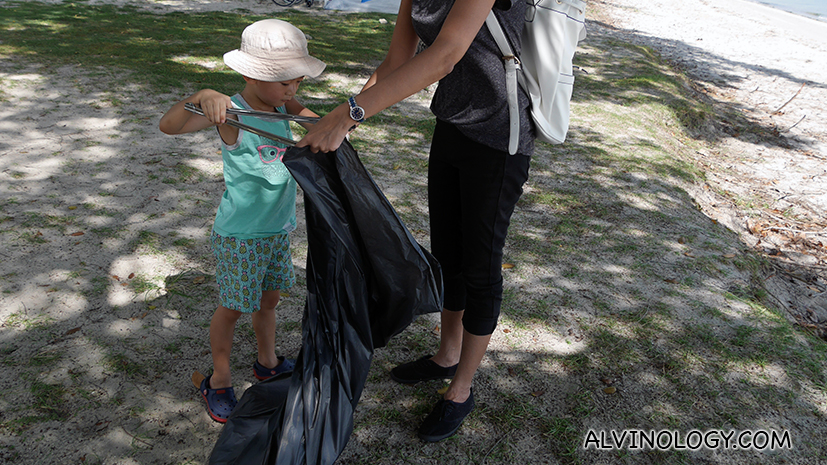 Why we made Asher spent his 5th birthday picking trash at the beach with Young NTUC