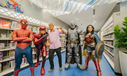 Singapore Cosplay Club SuperHeroes at the Sengkang Public Library