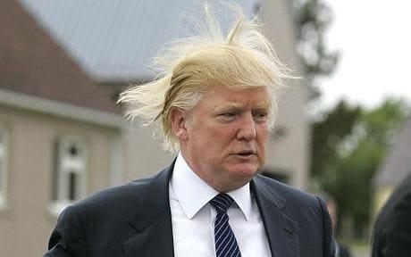 President Trump on a good hair day