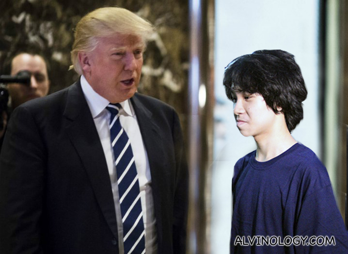 [Breaking News] Amos Yee meets Donald Trump, discuss about hairstyles - Alvinology