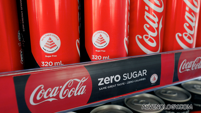 Coca-Cola unifies entire Coke range under One Brand in Singapore - Healthier Choice symbol can now be seen on red Coca-Cola cans - Alvinology