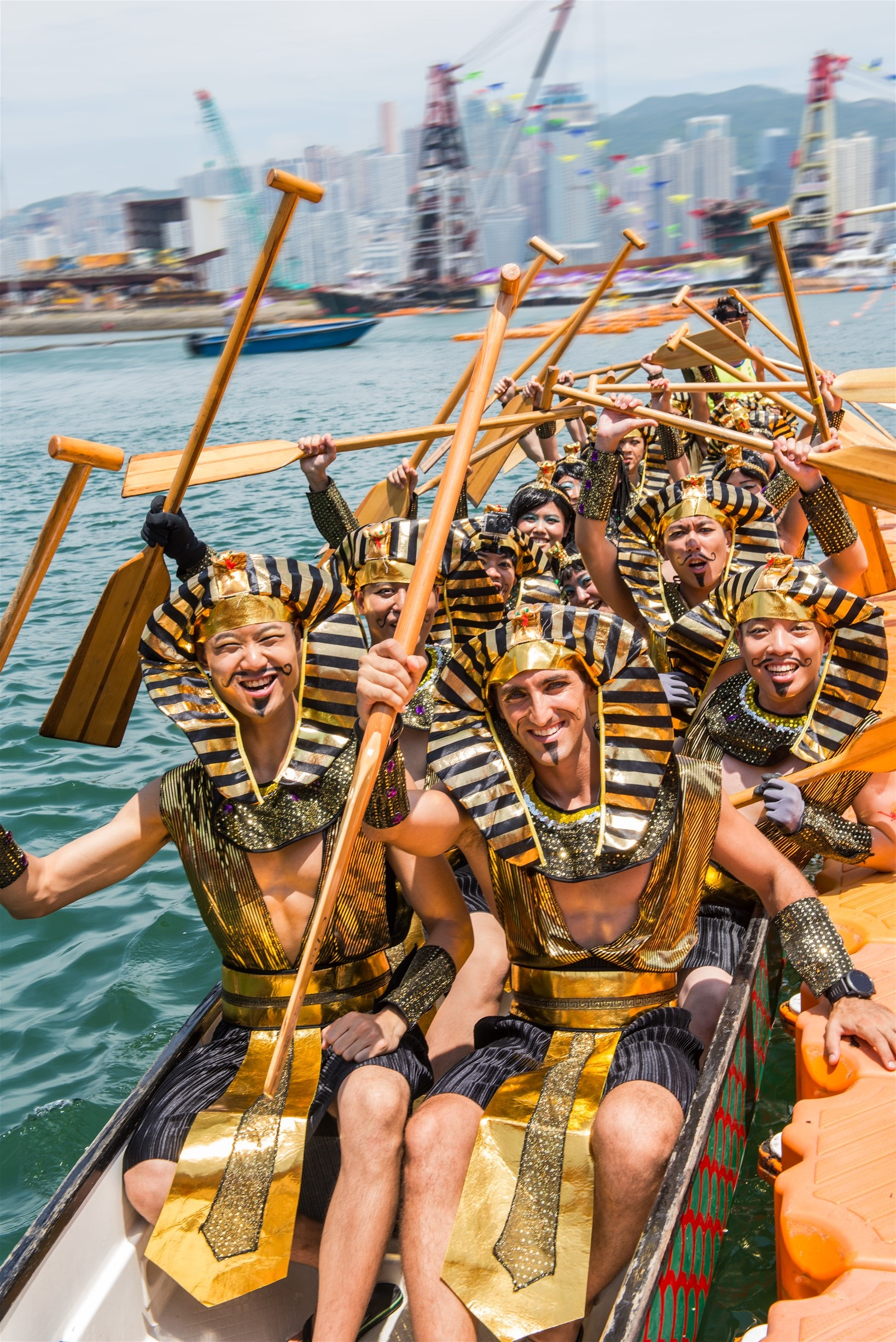 Paddlers dress up in fancy 'uniform' trying to attract audience's eyeballs.