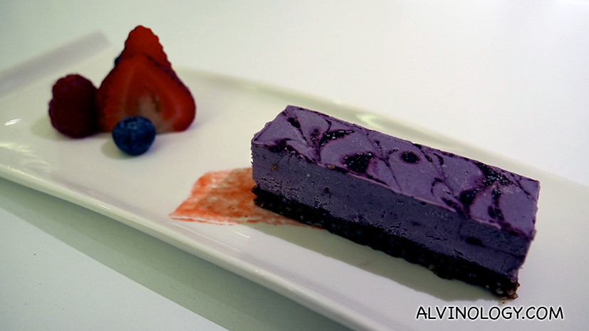Mixed Berries Cheese Cake - silky smooth raw vegan cake specially made from the finest selection of imported berries.