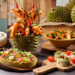 Buffet of durians – durian pasta, durian prata, durian desserts and more