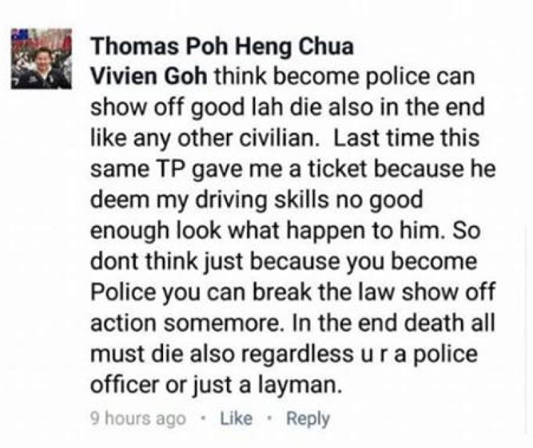 Screengrab of Thomas Poh's Facebook post via Mothership.sg