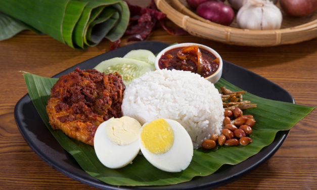 Nasi lemak and Coca-Cola for 52 cents, don't lugi hor