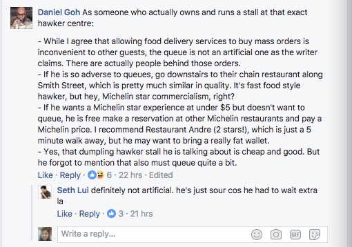 """Customer accuses Michelin Star hawker stall of """"dirty business tactics"""" - Alvinology"""