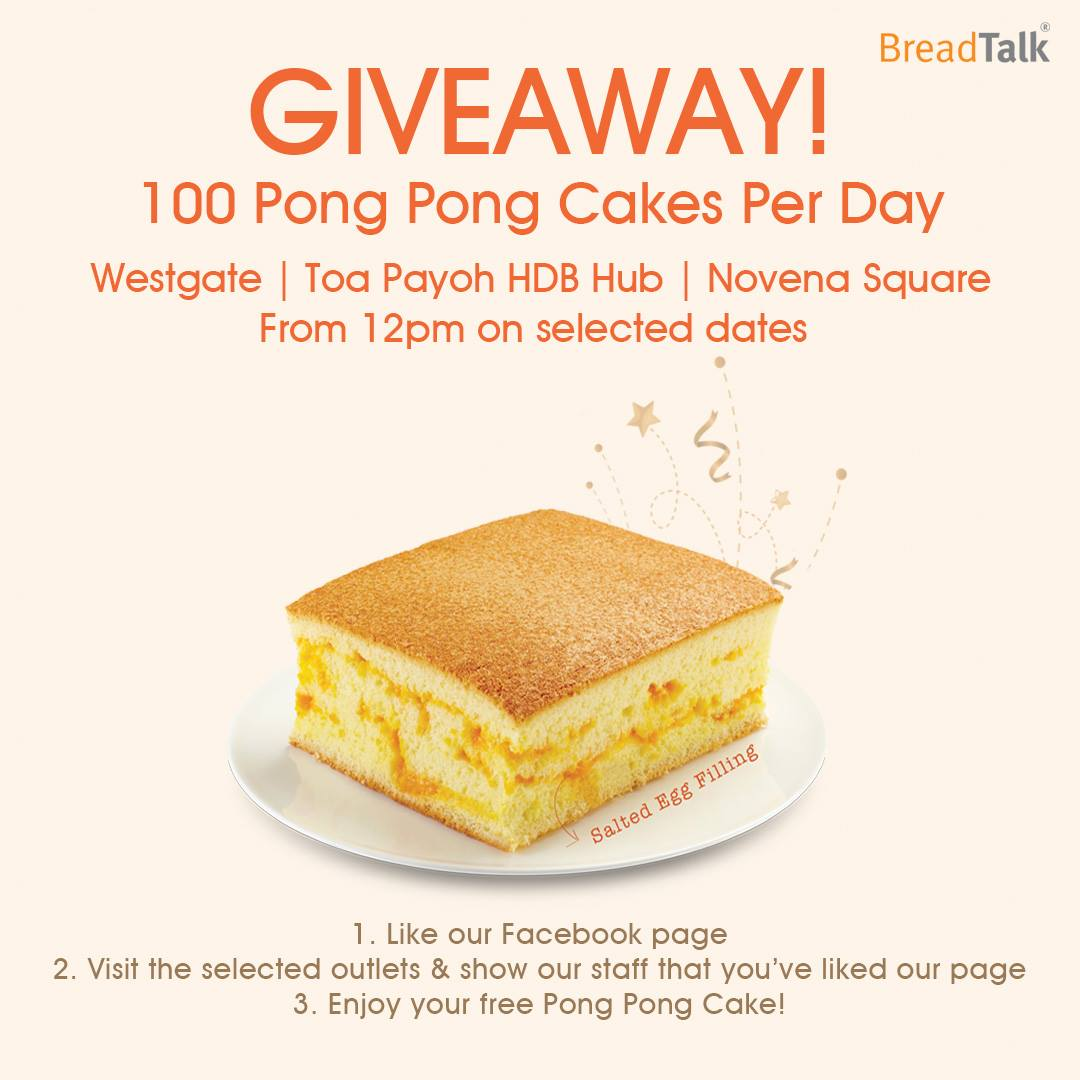 900 Pong Pong cakes up for grab at BreadTalk - Alvinology