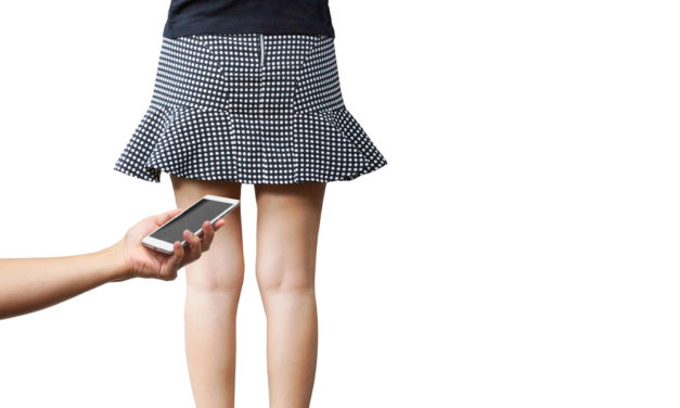 Would you steal a guy's phone if you caught him taking a photo up your skirt?