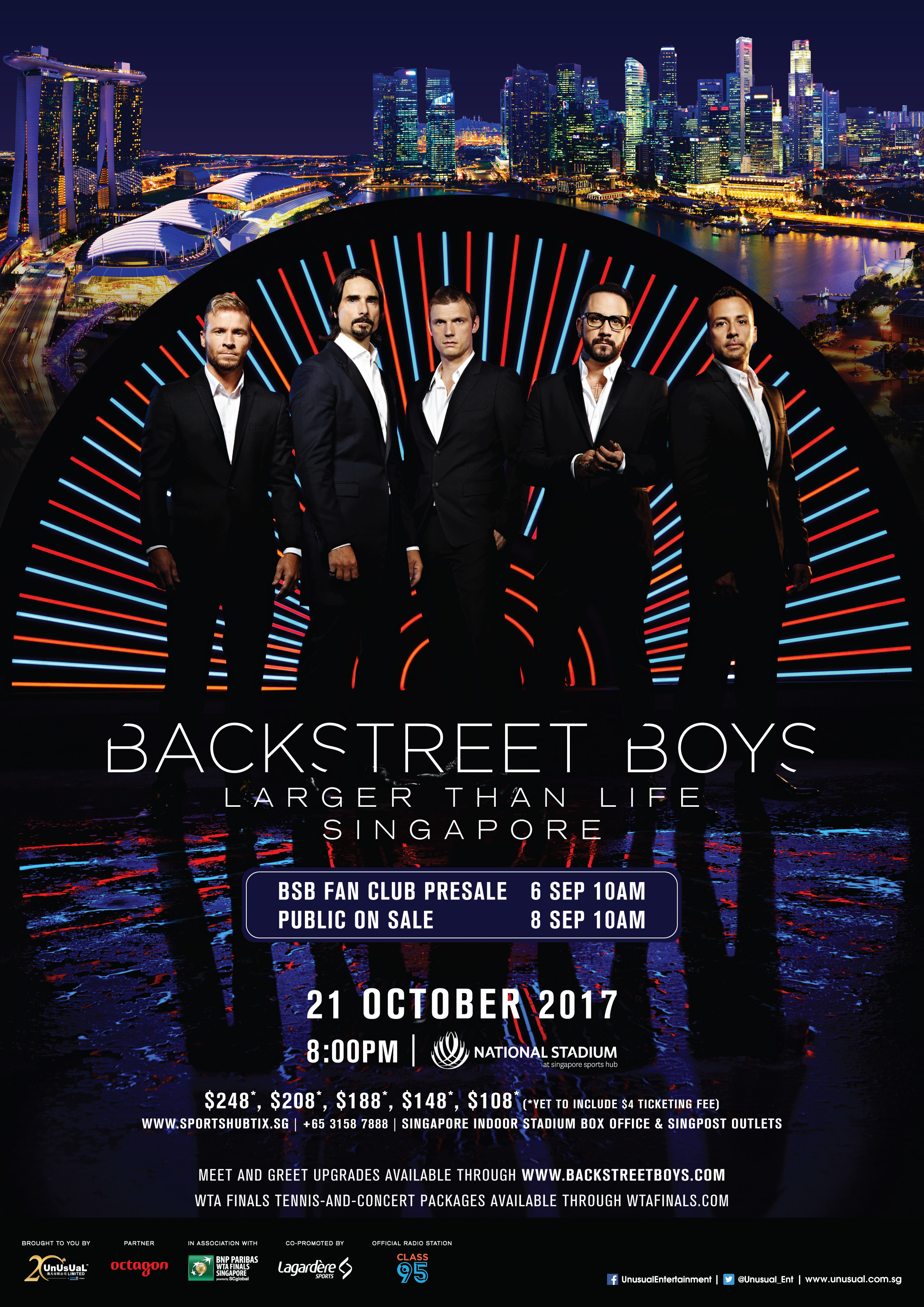 Backstreet Boys to hold Singapore concert on October 21, one night only in Asia - Alvinology