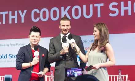 AIA Global Ambassador David Beckham makes a pit stop in Singapore as part of AIA Healthy Living Tour