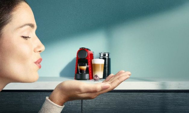 The Essenza Mini is the smallest Nespresso machine and can fit on your bedside table