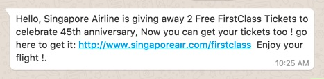 SPAM Alert! Free vouchers for whatever is NOT REAL - Alvinology