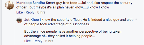 """Crazy, artistic, or just hungry? This man took off his shirt, laid down on a table in Sim Lim Square and questioned """"Why do we have to pay money for food?"""" and got a free meal - Alvinology"""