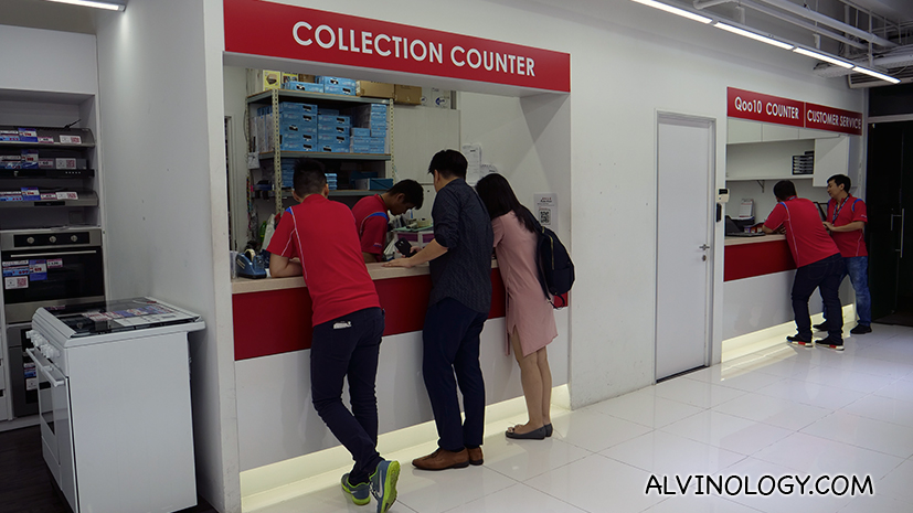 Collection counter upon payment