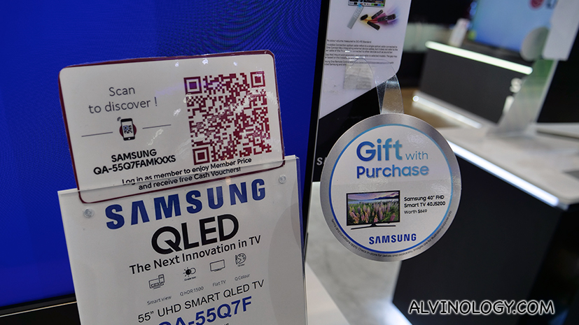 Scan the QR code on the product tag to make your purchase