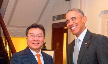 Barack Obama Visits the Fairmont Peace Hotel in Shanghai