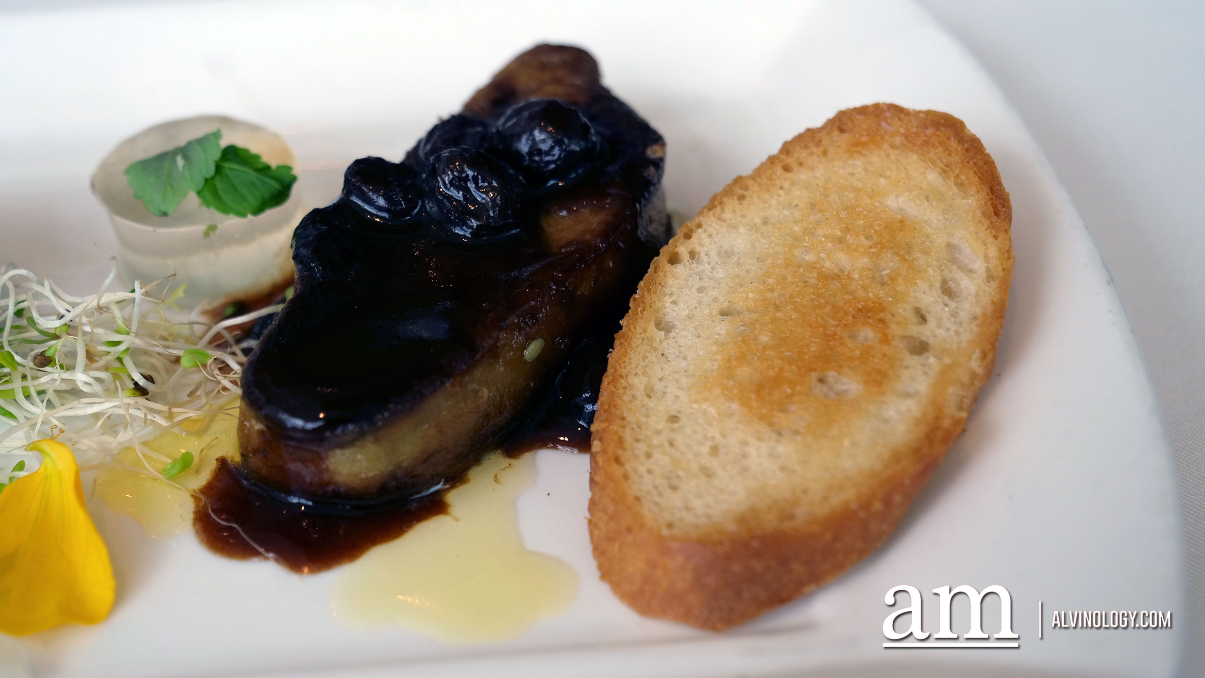 Foie Gras with Thyme Gelee