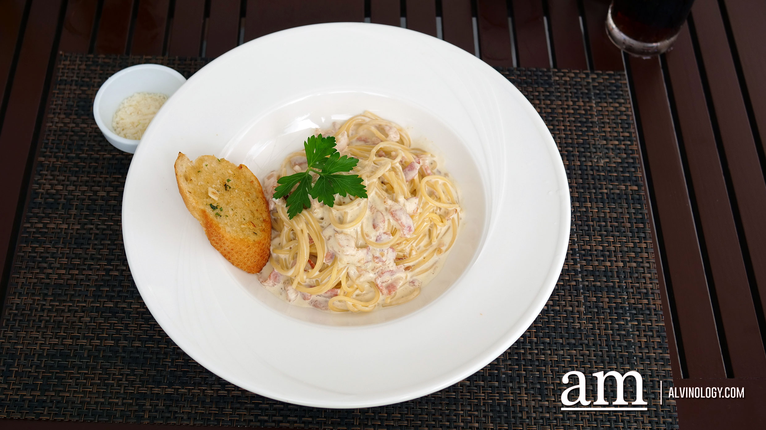Carbonara (THB 299) - creamy bacon and Parmigiano Regiano DOP