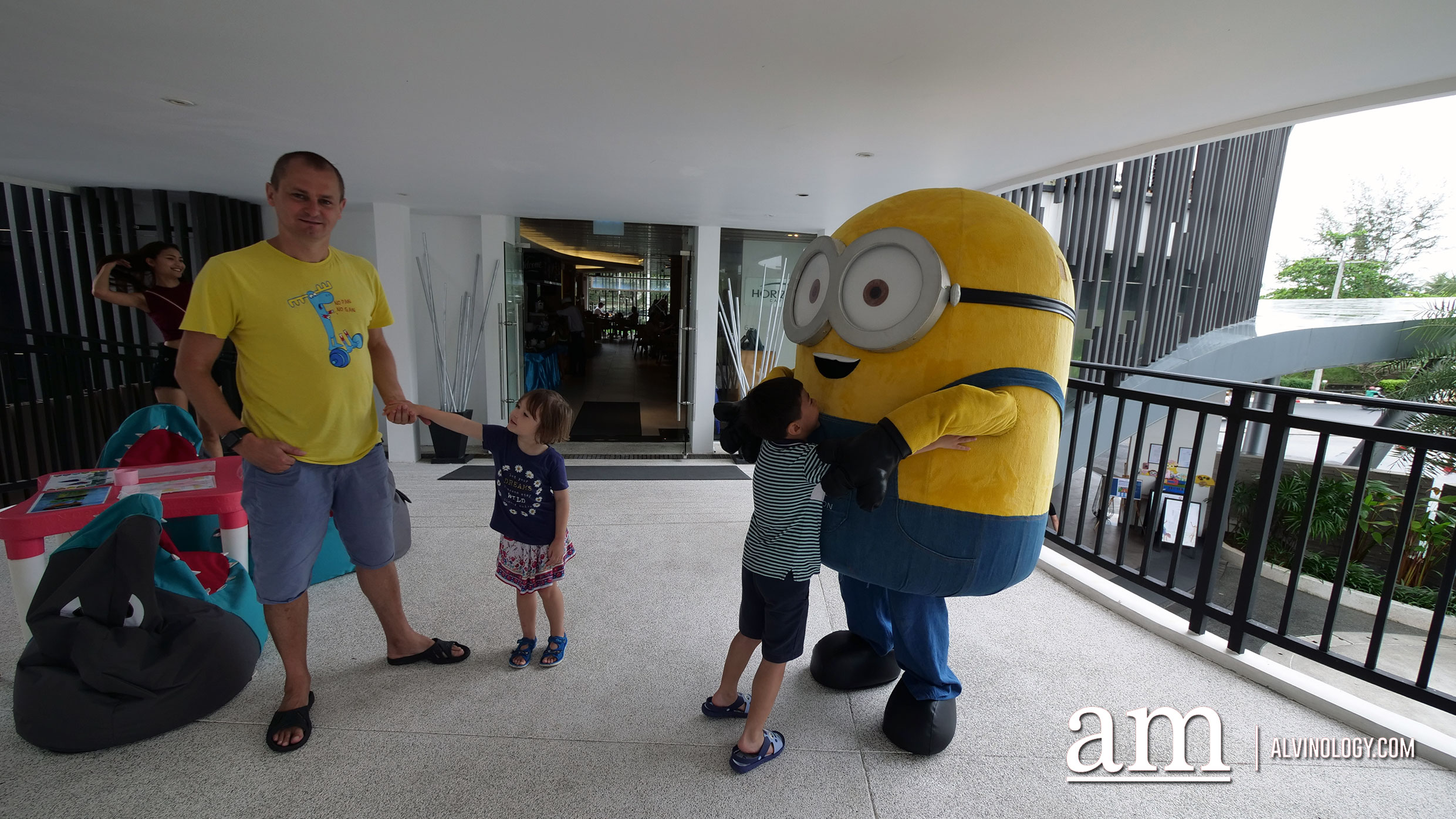 Meet and greet with costume characters like the Minions, Pikachu and more
