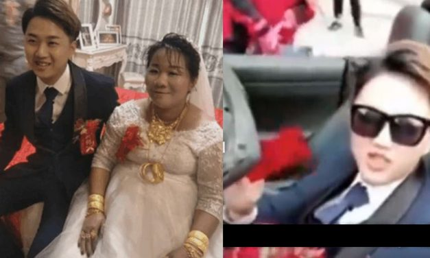 23-year-old Chinese guy marries a very rich 38-year-old bride and gets instant Ferrari, real estate lot and tons of cash