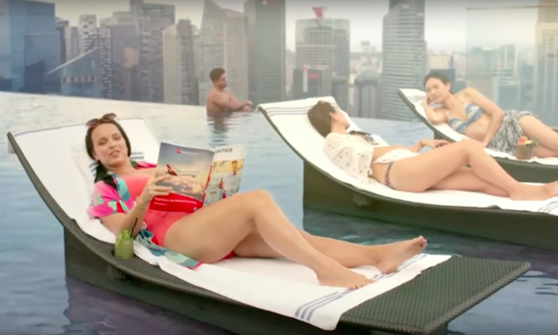 Qantas releases new air safety video featuring Australians mixing with local Singaporeans in Marina Bay Sands