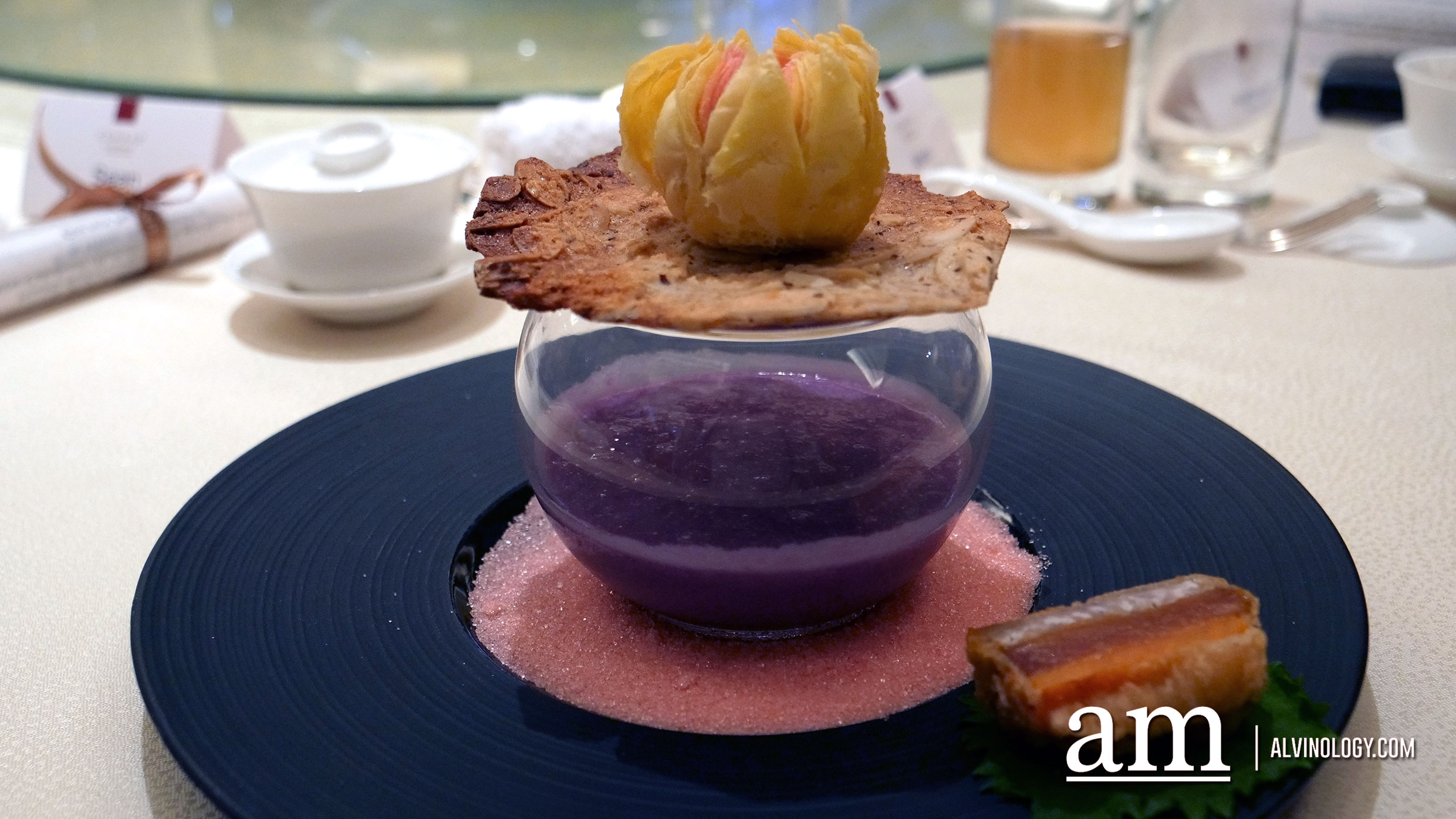 Crispy Jujube Pastry, Japanese Sweet Potato Puree with Pearls, Fried Nian Gao with Sweet Potato and Taro