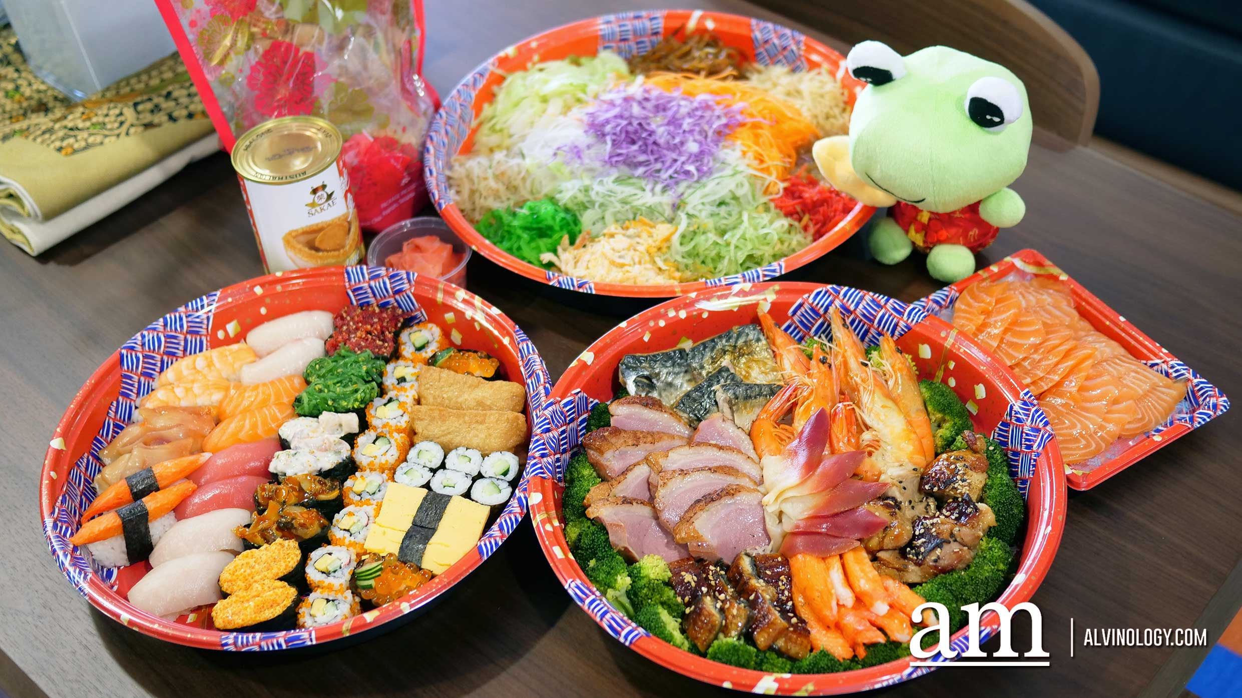 Sakae Sushi Yusheng Delivery - from just S$38.88, with salmon and abalone options - Alvinology