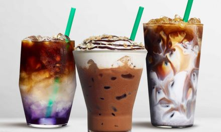 Starbucks new drinks include Butterfly Pea Lemonade Cold Brew, Macadamia Cocoa Cappuccino and returning Tahitian Vanilla Macchiato.