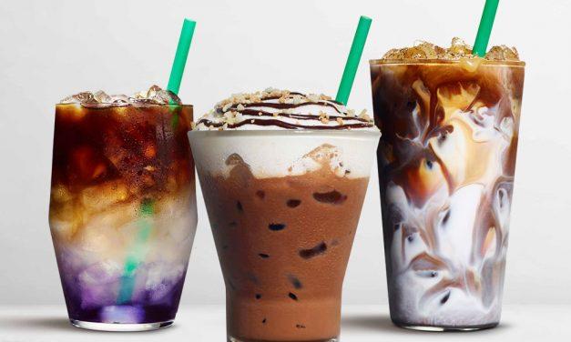 Starbucks new drinks include Butterfly Pea Lemonade Cold Brew, Macadamia Cocoa Cappuccino and returning Tahitian Vanilla Macchiato.