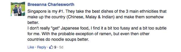 Singaporean food doesn't count in travel writer's list of top ten Asian cuisine - Alvinology